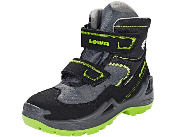 Lowa Milo GTX Mid Shoes Kids schwarz/limone